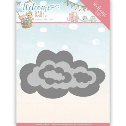 YCD10137 ~ Nesting Clouds ~ Welcome Baby ~ Yvonne Creations